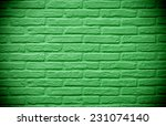 Green Brick Wall Background...