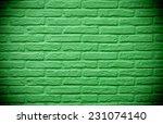 Green Brick Wall Background...