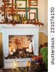 autumn fireplace | Shutterstock . vector #231076150
