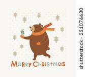 merry christmas card design.... | Shutterstock .eps vector #231076630