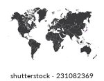 a map of the world with a... | Shutterstock . vector #231082369