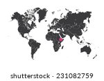 a map of the world with a... | Shutterstock . vector #231082759
