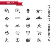 hotel amenities icon set 2 out...