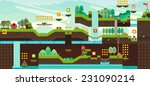 tile set platform for game ... | Shutterstock .eps vector #231090214