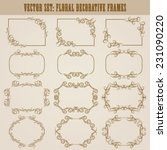 vector set of decorative ornate ... | Shutterstock .eps vector #231090220