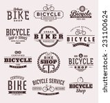 typographic bicycle themed... | Shutterstock .eps vector #231100624