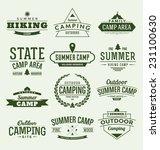 typographic outdoor camping... | Shutterstock .eps vector #231100630