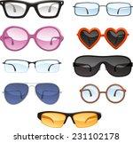 glasses eye wear eye glasses ... | Shutterstock .eps vector #231102178