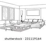 interior outline sketch.... | Shutterstock .eps vector #231119164