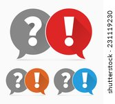 question and answers icon | Shutterstock .eps vector #231119230