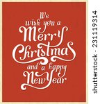 christmas typographic greeting... | Shutterstock .eps vector #231119314