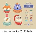 Christmas Hipster Animals....