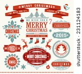 christmas typographic and... | Shutterstock .eps vector #231124183