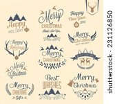 merry christmas and happy new... | Shutterstock .eps vector #231126850