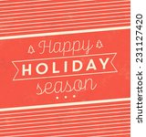 vintage christmas typographic... | Shutterstock .eps vector #231127420