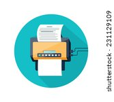 fax icon with paper page in... | Shutterstock .eps vector #231129109