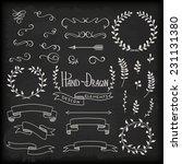 set of hand drawn design... | Shutterstock .eps vector #231131380