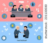 concept for business meeting ... | Shutterstock .eps vector #231133030