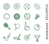 sport games thin line vector...