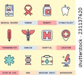 set flat icons  medicine ... | Shutterstock .eps vector #231137620