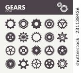 gears and cogs. icons set in... | Shutterstock .eps vector #231138436