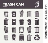 trash can. icons set in vector | Shutterstock .eps vector #231138544