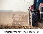 the tractor harvester working... | Shutterstock . vector #231150910