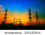 beautiful sunset behind... | Shutterstock . vector #231152914
