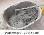 heap of hand mixed concrete | Shutterstock . vector #231156184