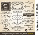 vector calligraphic element... | Shutterstock .eps vector #231157018