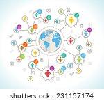 social network. flat design... | Shutterstock .eps vector #231157174