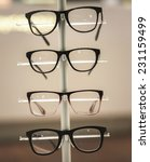 glasses on display in retail... | Shutterstock . vector #231159499