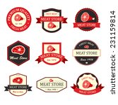 meat store vintage badges and... | Shutterstock .eps vector #231159814