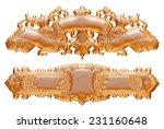 3d set of an ancient gold...   Shutterstock . vector #231160648