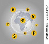 national currencies of some... | Shutterstock .eps vector #231161914