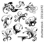 floral ornaments 2 | Shutterstock .eps vector #23116192