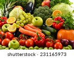 composition with assorted raw... | Shutterstock . vector #231165973