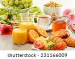 breakfast consisting of fruits  ...   Shutterstock . vector #231166009