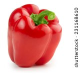 red bell pepper isolated on... | Shutterstock . vector #231168610