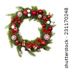 christmas decoration with space ... | Shutterstock . vector #231170248