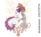 flowers and birds ornamental... | Shutterstock . vector #231175774