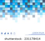 colorful square background.... | Shutterstock .eps vector #231178414
