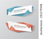 vector infographic origami...   Shutterstock .eps vector #231179548