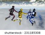 sports parachutist build a... | Shutterstock . vector #231185308