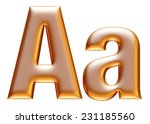 3d big and small a gold... | Shutterstock . vector #231185560