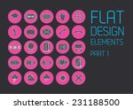 flat icon design template  ...