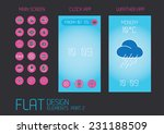 flat design template for mobile ...