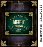 christmas label for xmas and... | Shutterstock .eps vector #231192316