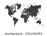 a map of the world with a... | Shutterstock .eps vector #231196393