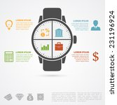 infographic template with hand... | Shutterstock .eps vector #231196924